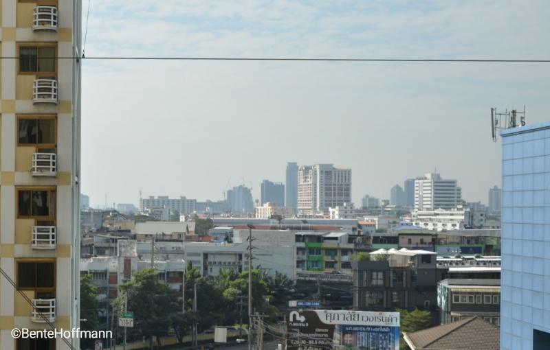 I mål: Udsigten i morges var over Bangkok