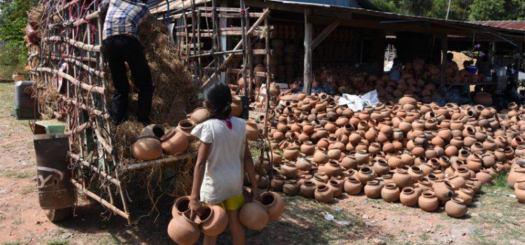 Pottemagerier i Kampong Chhnang