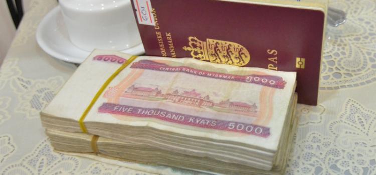 Kontanter og ATMs, når du rejser i Myanmar